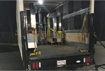 CPS box truck delivering the new equipment on location